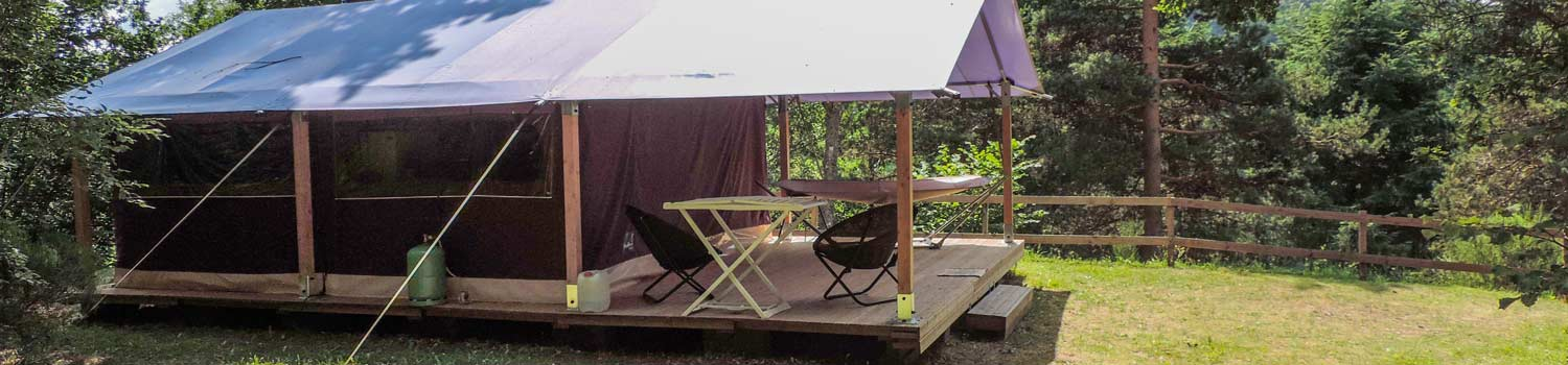camping cantal avec location tente
