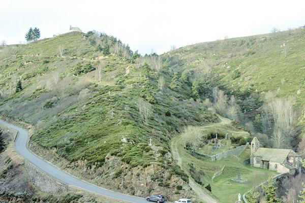 landscape auvergne camping belvedere